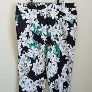 Time and Tru Tropical Crop Pants